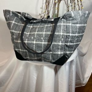 Free People Flannel Tote